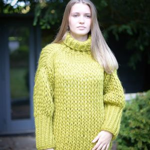 Lime Green Chunky Jumper