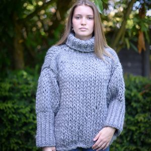 Tweed Grey Chunky Jumper