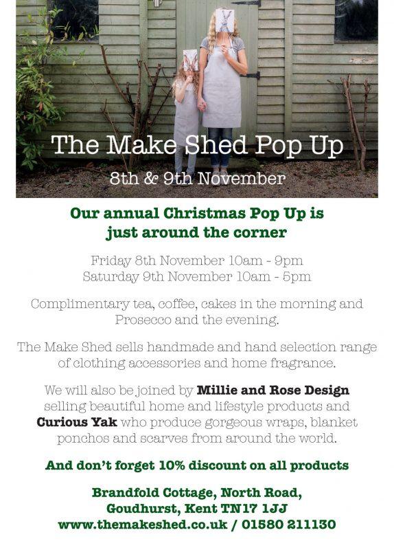The Make Shed Pop Up Shop
